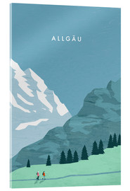Acrylic glass  Hiking in the Allgäu illustration - Katinka Reinke