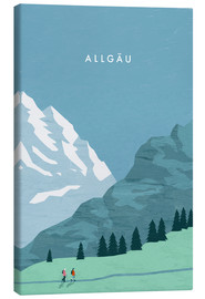 Canvas  Hiking in the Allgäu illustration - Katinka Reinke