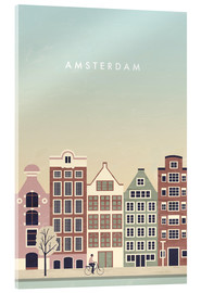 Acrylic glass  Amsterdam Illustration - Katinka Reinke