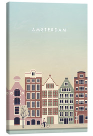 Canvas print  Amsterdam Illustration - Katinka Reinke