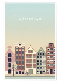 Premium poster Amsterdam Illustration