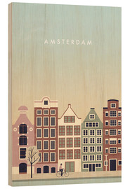 Wood print  Amsterdam Illustration - Katinka Reinke