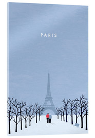 Acrylic print  Illustration of Paris - Katinka Reinke
