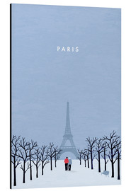 Aluminium print  Illustration of Paris - Katinka Reinke