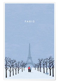 Premium poster Illustration of Paris