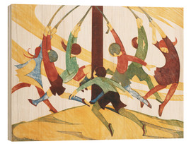 Wood print  The giant stride - Ethel Spowers