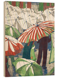 Wood  Wet afternoon - Ethel Spowers