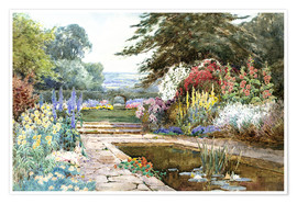 Premium poster  The lily pond - Theresa Sylvester  Stannard