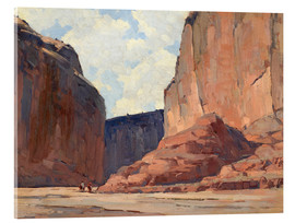 Acrylic glass  Canyon de Chelly - Edgar Alwin Payne