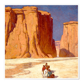 Premium poster  Indians ride through Canyon de Chelly - Edgar Alwin Payne
