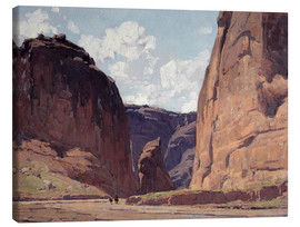 Canvas  Canyon gateway - Edgar Alwin Payne