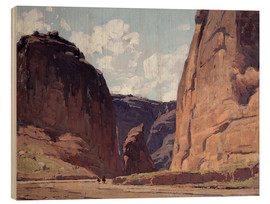 Wood print  Canyon gateway - Edgar Alwin Payne