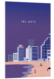 Foam board print  TelAviv Illustration - Katinka Reinke