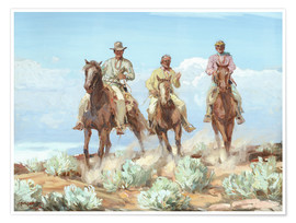 Premium poster Riders of the Painted Desert