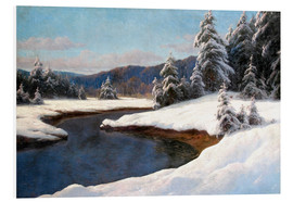 Carl Kenzler - Winter landscape at the lake