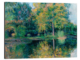 Alu-Dibond  The pond of Claude Monet's garden - Blanche Hoschede-Monet
