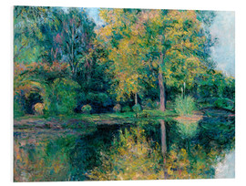 Foam board print  The pond of Claude Monet's garden - Blanche Hoschede-Monet