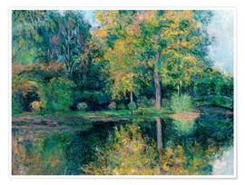 Premium poster The pond of Claude Monet's garden