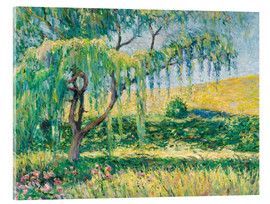 Acrylic print  Willow, rose garden and water lilies in Giverny - Blanche Hoschede-Monet