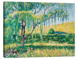 Canvas print  Willow, rose garden and water lilies in Giverny - Blanche Hoschede-Monet