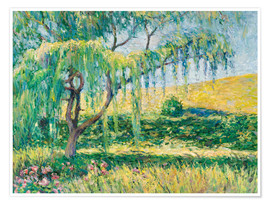 Premium poster  Willow, rose garden and water lilies in Giverny - Blanche Hoschede-Monet