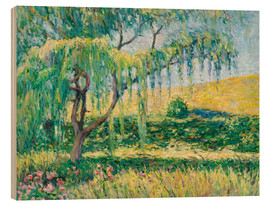 Wood print  Willow, rose garden and water lilies in Giverny - Blanche Hoschede-Monet