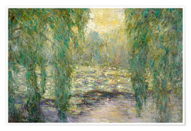Premium poster  The water lilies - Blanche Hoschede-Monet