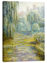 Canvas  The garden in Giverny - Blanche Hoschede-Monet