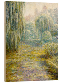 Wood print  The garden in Giverny - Blanche Hoschede-Monet