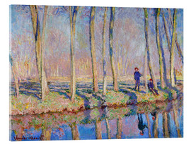 Acrylic glass  Jean Pierre Hoschede and Michel Monet on the banks of the Epte - Blanche Hoschede-Monet