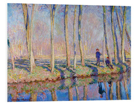 Foam board print  Jean Pierre Hoschede and Michel Monet on the banks of the Epte - Blanche Hoschede-Monet