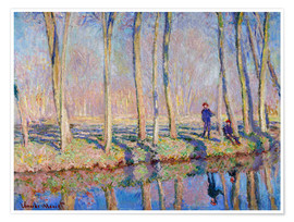 Premium poster Jean Pierre Hoschede and Michel Monet on the banks of the Epte