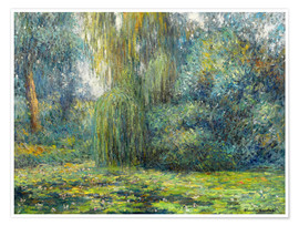 Premium poster  Water Lilies - Blanche Hoschede-Monet