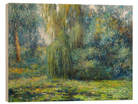 Wood  	 Water Lilies - Blanche Hoschede-Monet