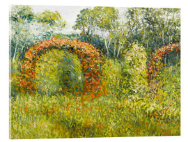 Acrylic glass  The rose garden in Giverny - Blanche Hoschede-Monet