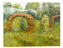 Foam board print  The rose garden in Giverny - Blanche Hoschede-Monet