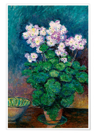 Premium poster  Narcissus and Primroses - Blanche Hoschede-Monet