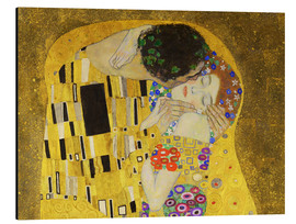 Alu-Dibond  The kiss (detail) - Gustav Klimt