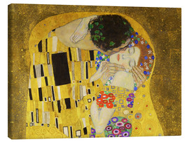 Canvas print  The kiss (detail) - Gustav Klimt