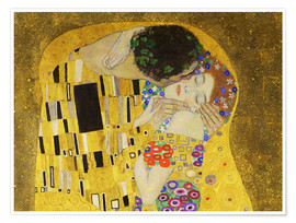 Poster  The kiss (detail) - Gustav Klimt