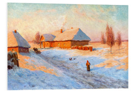 Foam board print  Village in winter - Ivan Fedorovich Choultse