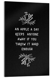 Acrylic print  On Apple A Day Black-White - Orara Studio