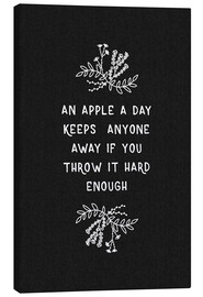 Canvas print  On Apple A Day Black-White - Orara Studio