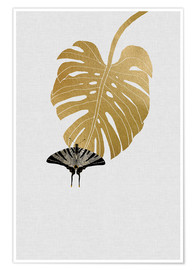 Premium poster  Butterfly & Monstera - Orara Studio