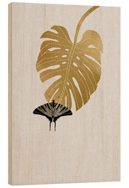 Wood  Butterfly & Monstera - Orara Studio