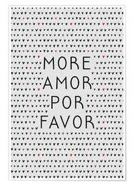 Premium poster More Amor Por Favor Black Red