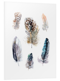Foam board print  Feathers collection - Verbrugge Watercolor