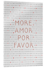 Acrylic print  More Amor Por Favor Rose Gold - Orara Studio
