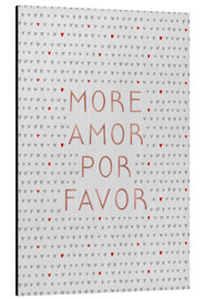 Aluminium print  More Amor Por Favor Rose Gold - Orara Studio