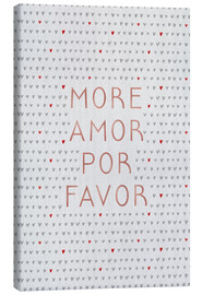 Canvas print  More Amor Por Favor Rose Gold - Orara Studio